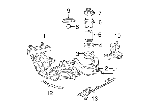 SUSPENSION COMPONENTS for 2001 Ford Mustang
