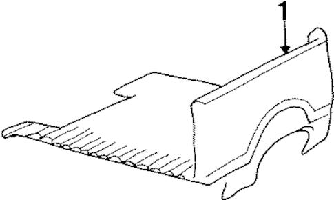 OEM REAR BODY & FLOOR for 1986 Chevrolet K5 Blazer