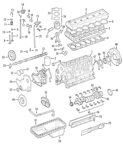 Dodge Engine Engine parts for a 2001 Dodge Ram 2500 Base