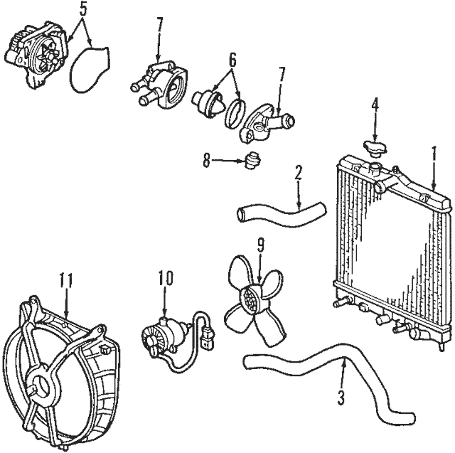 2004-2005 Honda Thermostat Assembly (Nippon Thermostat