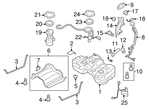 FUEL SYSTEM COMPONENTS for 2012 Nissan Rogue