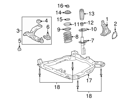 SUSPENSION COMPONENTS for 2005 Chevrolet Cobalt (Base)
