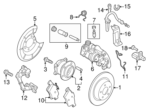 REAR BRAKES for 2014 Ford Transit Connect