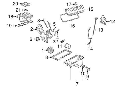 ENGINE PARTS for 2005 Mercury Mountaineer