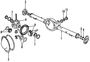 AXLE HOUSING for 1993 Dodge D350