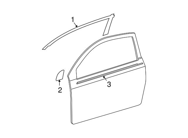 Genuine Scion tC Belt Molding 75712-21030