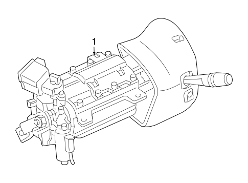 Steering Column Assembly for 2004 Mercury Grand Marquis