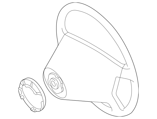 Mercedes-Benz Steering Wheel (208-460-00-03-5B86) For Sale