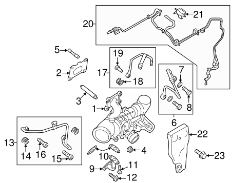 OEM 2014 Ford Fusion Exhaust Manifold Parts