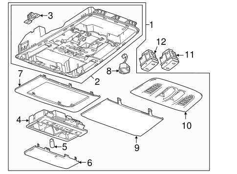 OEM 2013 Buick Verano Overhead Console Parts