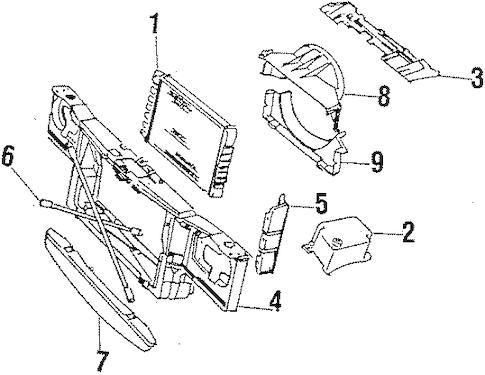 Radiator & Components Parts for 1986 Oldsmobile Cutlass Salon
