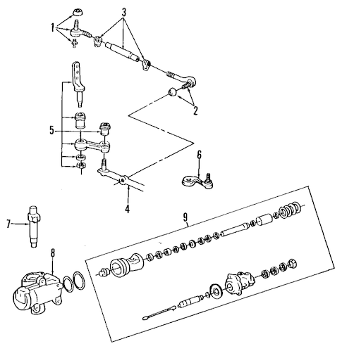 STEERING GEAR & LINKAGE for 1999 Ford Crown Victoria