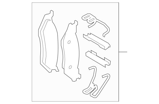 Genuine Brake Pads for 2013-2019 Ford Part# DC3Z-2001-G