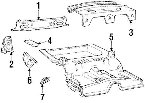 REAR BODY for 1986 Mercury Cougar
