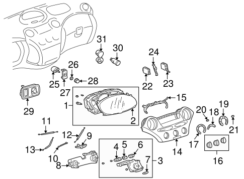 Genuine OEM Switches Parts for 2001 Toyota Echo Base