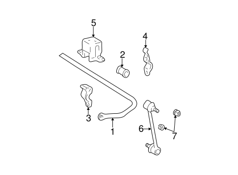 Genuine OEM Stabilizer Bar & Components Parts for 2001