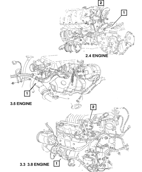 Wiring-Engine & Related Parts for 2003 Dodge Caravan