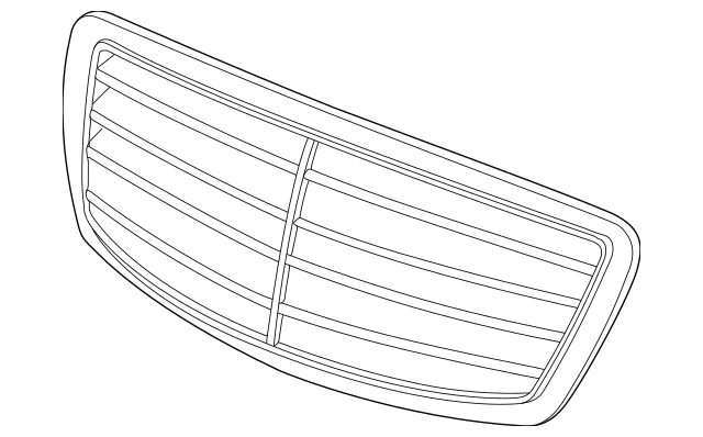 Genuine Mercedes-Benz Grille Assembly 220-880-05-83-9040