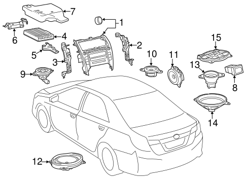 Genuine OEM Sound System Parts for 2012 Toyota Camry