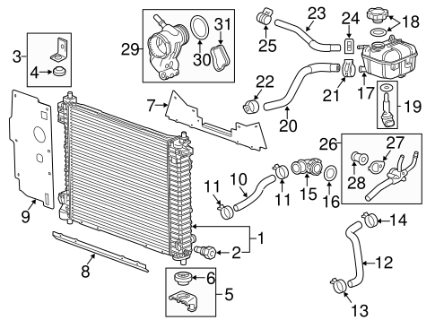 OEM RADIATOR & COMPONENTS for 2011 Cadillac SRX
