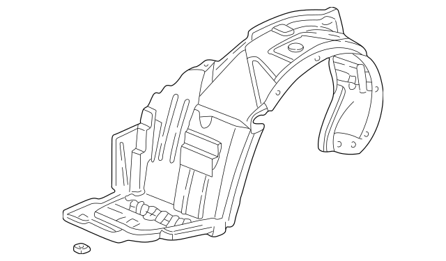 2002-2004 Acura RSX HATCHBACK Fender, L Front (Inner