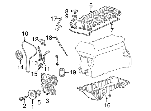 Engine Parts for 2005 Chevrolet Trailblazer