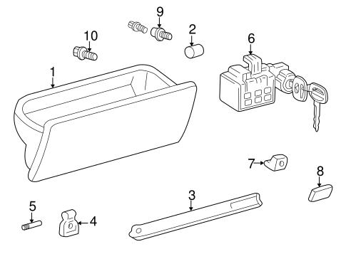 Genuine OEM Instrument Panel Parts for 2001 Toyota 4Runner