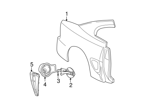 Quarter Panel & Components for 2000 Ford Mustang