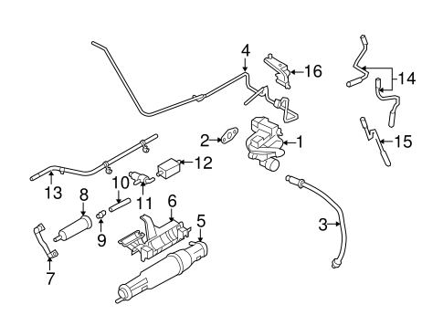 Ford E-150/250/350/450 Evaporative Emissions System Lines