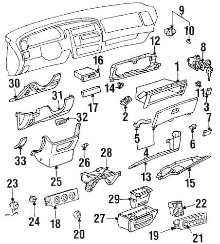 fuse box diagram 1998 toyota avalon xl