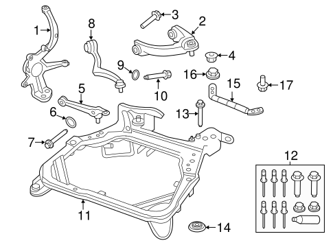 OEM 2012 Ford Fusion Suspension Components Parts