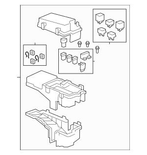 2007-2008 Honda RIDGELINE SEDAN Box Assembly, Fuse 38200