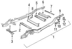 Frame & Components for 1995 Chevrolet K1500 Pickup