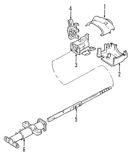 STEERING COLUMN for 2005 Chevrolet SSR