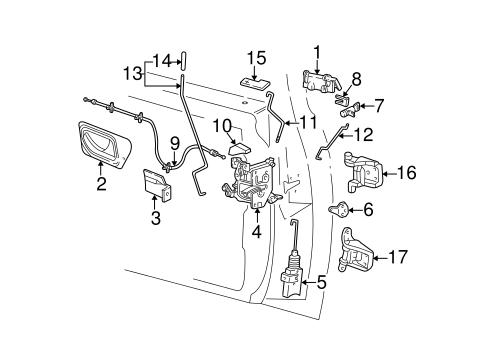 Ford Ranger Door Parts Diagram