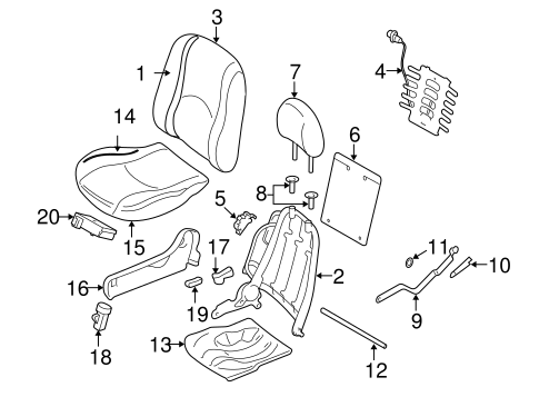FRONT SEAT COMPONENTS for 2012 Ford Escape