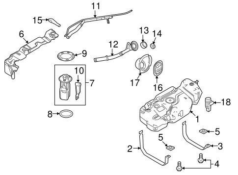 Fuel System Components for 2010 Lincoln Navigator