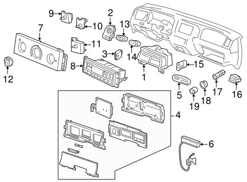 Heater Control for 2003 Mercury Grand Marquis|F8AZ-19980