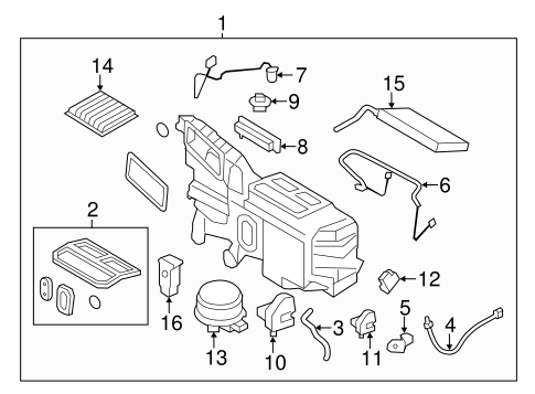 EVAPORATOR COMPONENTS for 2013 Ford Edge