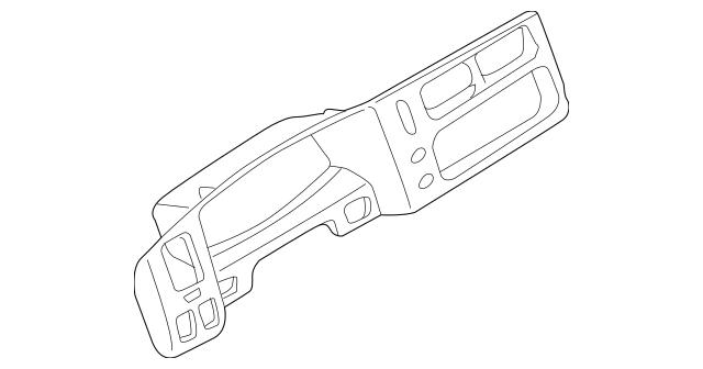 1997-2004 Mitsubishi Montero Sport Cluster Bezel MR769397