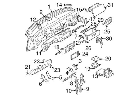 Instrument Panel for 1998 Mitsubishi Montero Sport
