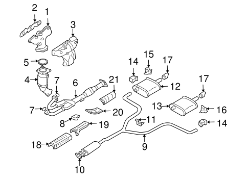 EXHAUST COMPONENTS for 2006 Nissan Altima