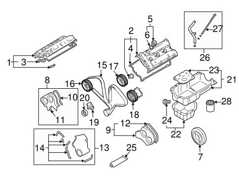 Engine Parts for 2006 Hyundai Santa Fe