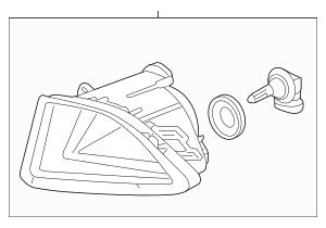 2009-2012 Acura RL SEDAN Fog Light Assembly, R Front 33900
