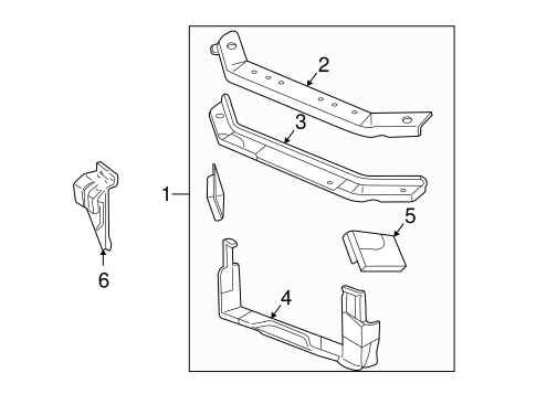 RADIATOR SUPPORT for 2001 Buick Century