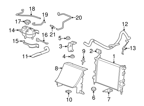 Radiator & Components for 2006 Pontiac Solstice