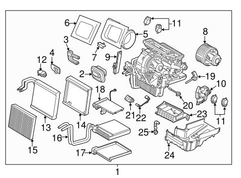 OEM 2017 Ford Escape Blower Motor & Fan Parts