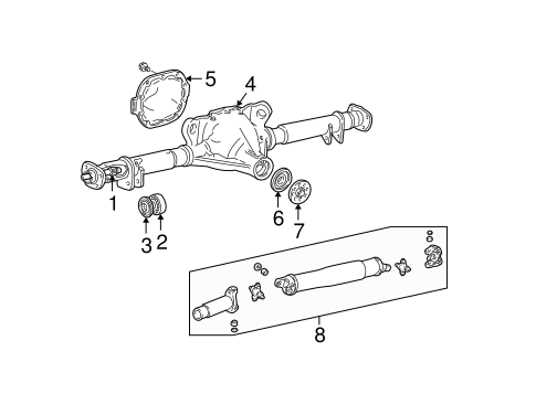 Axle Housing for 2004 Lincoln Town Car