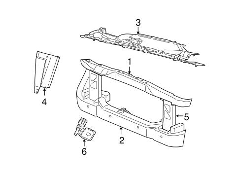 Chrysler Body Radiator Support parts for a 2007 Chrysler