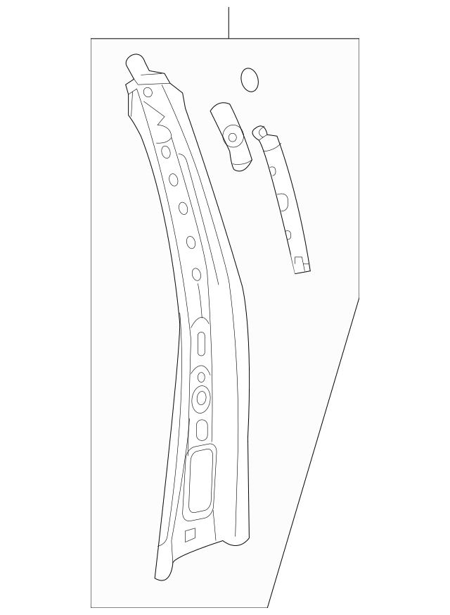 2011-2017 Buick Enclave Inner Center Pillar 22789656